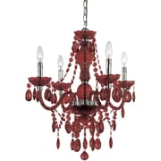 AF Lighting Naples Four Light Mini Chandelier, Red (83544H)