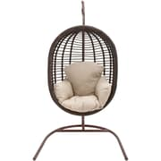 Hanover Outdoor Furniture Outdoor Wicker Pod Swing with Full Cream Cushion (EGGSWING03)