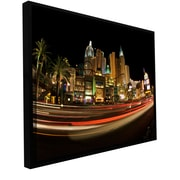 """ArtWall 'New York New York' Gallery-Wrapped Canvas 24"""" x 36"""" Floater-Framed (0yor047a2436f)"""