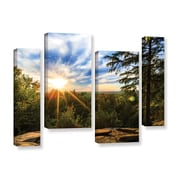 """ArtWall 'Virginia Kendall 2' 4-Piece Gallery-Wrapped Canvas Staggered Set 24"""" x 36"""" (0yor059i2436w)"""