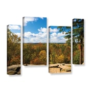 """ArtWall 'Virginia Kendall' 4-Piece Gallery-Wrapped Canvas Staggered Set 24"""" x 36"""" (0yor060i2436w)"""
