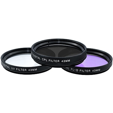 Xit Pro Series 43mm Multi Coated HD 3-Piece Digital Filter Set