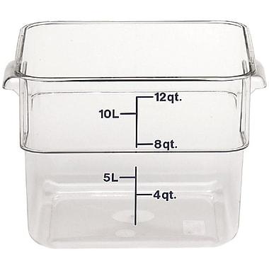 Cambro 12SFSCW-135 Square Food Storage Container 12 Quart, 6/Pack