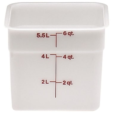Cambro 6SFSP-148 Square Poly Food Storage Container 6 Quart, 6/Pack
