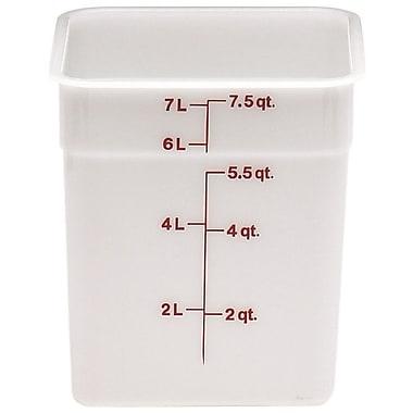 Cambro 8SFSP-148 Square Poly Food Storage Container 8 Quart, 6/Pack