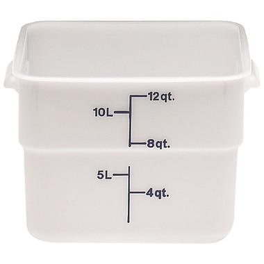 Cambro 12SFSP-148 Square Poly Food Storage Container 12 Quart, 6/Pack