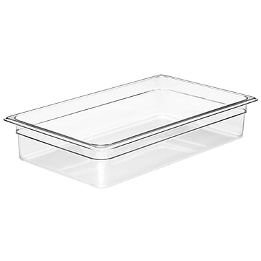Cambro 12CW135 Gastronorm Full Size Pan, Clear, 2-1/2