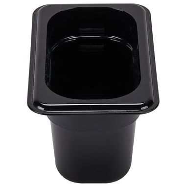 Cambro 92CW110 Gastronorm Ninth Size Pan, Black, 2-1/2