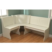 TMS Nook Corner Four Seat Bench; Antique White