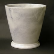 Nature Home Decor Waste Basket in White Marble