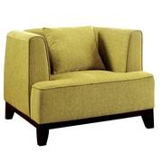 Hokku Designs Yirume Modern Barrel Chair; Lemongrass
