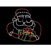 Brite Ideas Jolly Santa with Gift Box LED Light