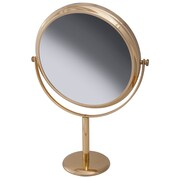 "Frasco Polished Brass Beauty Mirror 7x Magnification 10"" x 9.5"" (FRA-64720)"