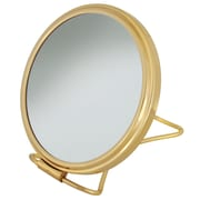 "Frasco Polished Brass Beauty Mirror 7x Magnification 5.75"" x 8"" (FRA-64880)"
