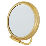 "Frasco 5x Magnification Polished Beauty Mirror 3.25"" x 4.5"", Brass (FRA-66130)"