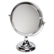 "Naturally by Kingsley 10x Magnification Polished Beauty Mirror 11.5"" x 9.25"", Chrome (M-102)"