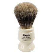 Kingsley for Men Pure Badger Bristle Shave Brush-Faux Ivory Handle (SB-8012)