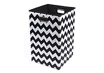 Modern Littles Bold Chevron Folding Laundry Basket, Assorted Colors