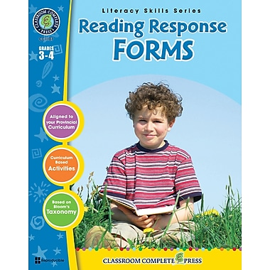 eBook: Reading Response Forms, Grades 3-4 (PDF version, 1-User Download), ISBN 978-1-55319-399-9