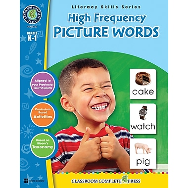 eBook: High Frequency Picture Words, Grades K-1 (PDF version, 1-User Download), ISBN 978-1-55319-406-4