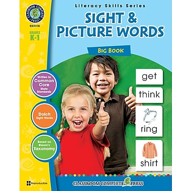 Sight & Picture Words Big Book, Grades K-1, ISBN 978-1-55319-407-1