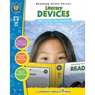 eBook: Literary Devices, Grades 5-8 (PDF version, 1-User Download), ISBN 978-1-55319-485-9