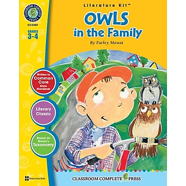 eBook: Owls in the Family Literature Kit, Grades 3-4 (PDF version, 1-User Download), ISBN 978-1-55319-331-9