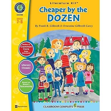 Cheaper by the Dozen Literature Kit, Grades 7-8, ISBN 978-1-55319-382-1