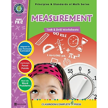 eBook: Measurement - Task & Drill Sheets, Grades PK-2 (PDF version, 1-User Download), ISBN 978-1-55319-537-5