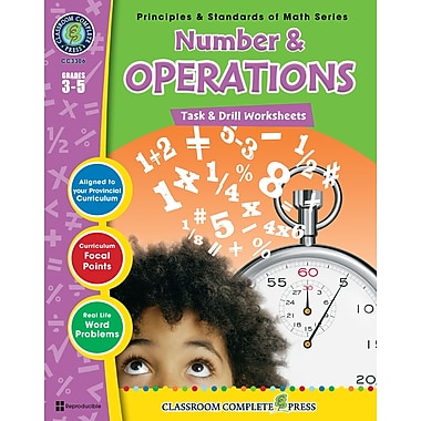 eBook: Number & Operations - Task & Drill Sheets, Grades 3-5 (PDF version, 1-User Download), ISBN 978-1-55319-539-9