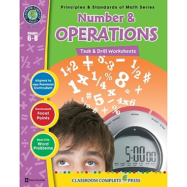 Number & Operations - Task & Drill Sheets, 3e à 5e années, ISBN 978-1-55319-544-3