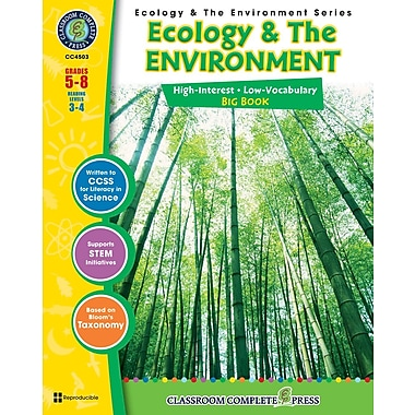 Ecology & The Environment Big Book, Grades 5-8, ISBN 978-1-55319-369-2