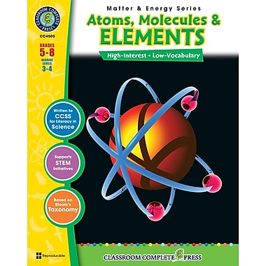 Atoms, Molecules & Elements, Grades 5-8, ISBN 978-1-55319-371-5