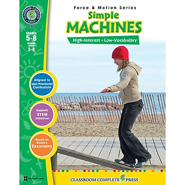 eBook: Simple Machines, Grades 5-8 (PDF version, 1-User Download), ISBN 978-1-55319-376-0