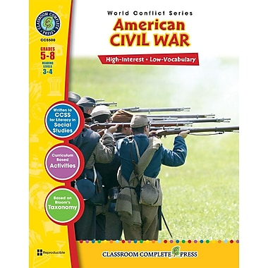 eBook: American Civil War, Grades 5-8 (PDF version, 1-User Download), ISBN 978-1-55319-355-5