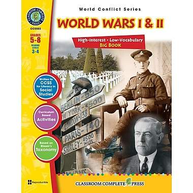 World Wars I & II Big Book, Grades 5-8, ISBN 978-1-55319-358-6