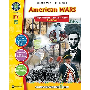 eBook: American Wars Big Book, Grades 5-8 (PDF version, 1-User Download), ISBN 978-1-55319-554-2