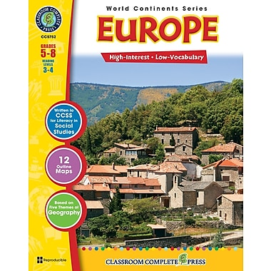 eBook: Europe, Grades 5-8 (PDF version, 1-User Download), ISBN 978-1-55319-310-4