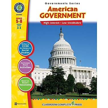 American Government, Grades 5-8, ISBN 978-1-55319-343-2