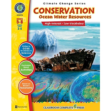 Conservation: Ocean Water Resources, Grades 5-8, ISBN 978-1-55319-435-4