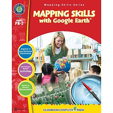 eBook: Mapping Skills with Google Earth, Grades PK-2 (PDF version, 1-User Download), ISBN 978-1-55319-549-8