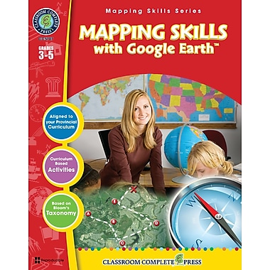 eBook: Mapping Skills with Google Earth, Grades 3-5 (PDF version, 1-User Download), ISBN 978-1-55319-550-4