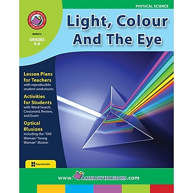eBook: Light, Colour And The Eye, Grades 4-6 (PDF version, 1-User Download), ISBN 978-1-55319-007-3