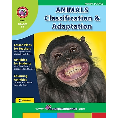 Animals: Classification & Adaptation, Grades 4-6, ISBN 978-1-55319-009-7