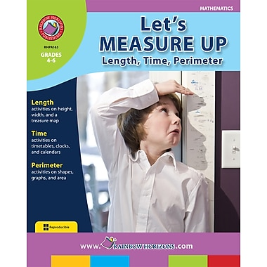 eBook: Let's Measure Up: Length, Time, Perimeter, Grades 4-6 (PDF version, 1-User Download), ISBN 978-1-55319-160-5