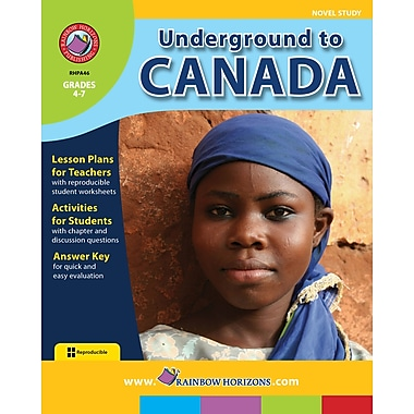 Underground to Canada - Novel Study, 4e à 7e années, ISBN 978-1-55319-043-1
