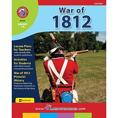 eBook: War of 1812, Grades 7-9 (PDF version, 1-User Download), ISBN 978-1-55319-068-4