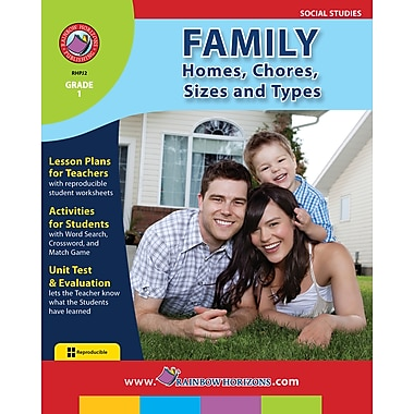 Family: Homes, Chores, Sizes & Types, anglais, 1re année, livre num. (téléch. 1 util.), ISBN 978-1-55319-145-2