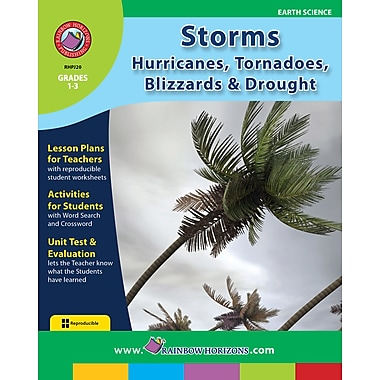 eBook: Storms: Hurricanes, Tornadoes, Blizzards & Drought, Grades 1-3 (PDF version, 1-User Download), ISBN 978-1-55319-186-5