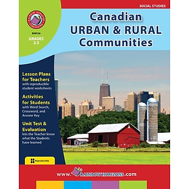 eBook: Canadian Urban And Rural Communities, Grades 2-3 (PDF version, 1-User Download), ISBN 978-1-55319-127-8